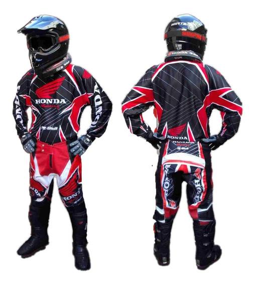 Conjunto Motocross Honda Pantalon Buzo Talles Grandes