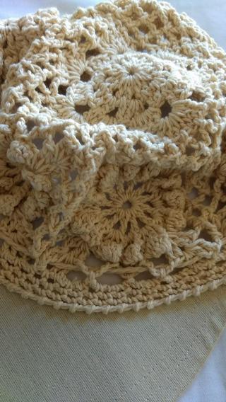 Gorro Con Visera Al Crochet Cubano