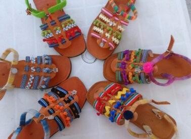 Sandálias De Couro Custumizadas.