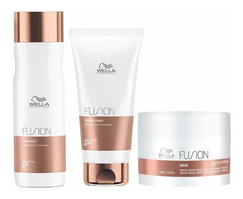 Wella Fusion Recuperación Shampoo, Acondicionador Máscara