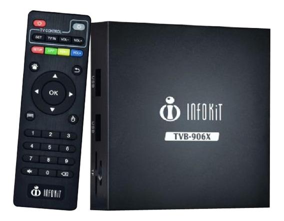 Smart Tv Box Tvb-906x Preto Infokit