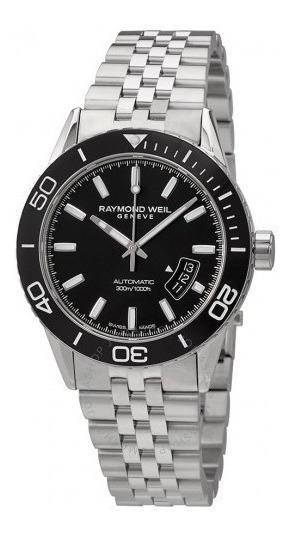 Relógio Suíço Raymond Weil Preto/aço Automático Diver 300
