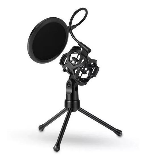 Suporte Para Microfone Aranha / Pop Filter / Ante Shock Live