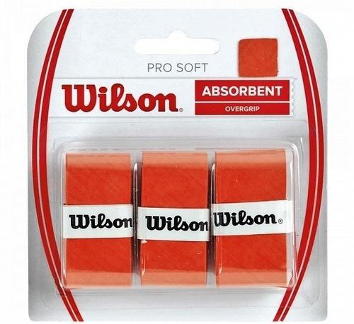 Wilson Pro Soft Overgrip Pack X3 (naranja) /tennisheroshop