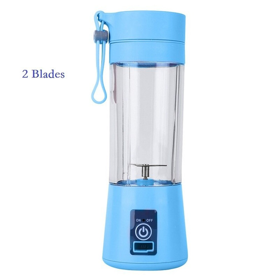 380ml Mini Elétrica Juicer Frutas 2/4/6 Blades Squeezer Usb