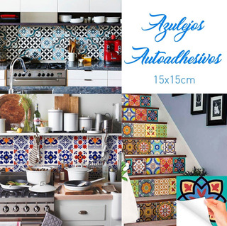 Azulejos Vinilos Decorativos Autoadhesivos Cocina Baño X100u