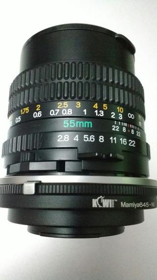 Lente Mamiya Sekor 55mm 2.8 P/ Nikon 12x S/ Juros!