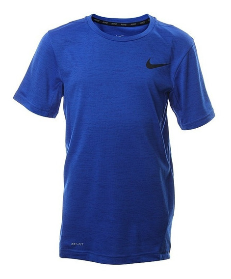 Playera Nike Dri-fit Para Tennis Azul Marino