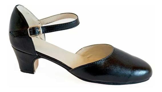 Zapatos De Jazz, Salsa, Tango , Comedia Musical Cuero Negro