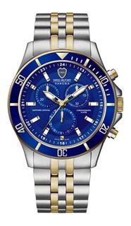Reloj Swiss Military Boca Juniors Acero Crono Dorado C/envio