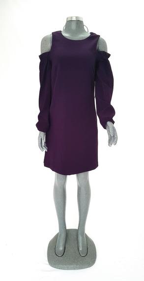 Vestido Violeta Morado Lila Corto Importado Original Eliza J