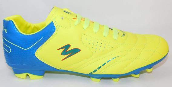 Zpatos Futbol Soccer Amarillo/azul/azul Cod.430