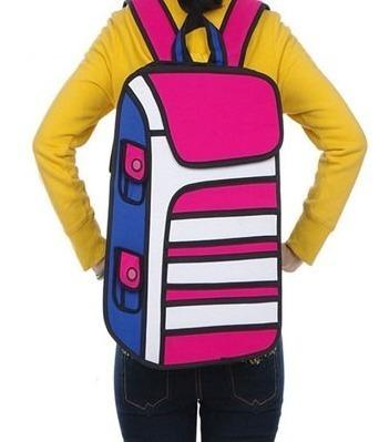 Mochila Bolso Diseño 2d 3d Cartoonbag Backpack Importada 5