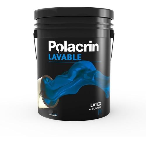 Pintura Latex Interior Satinado Polacrin X 10 Lt Blanco