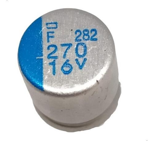 Imagen 1 de 4 de Pack X5 Capacitor Electrolitico 270uf 16v  8x8