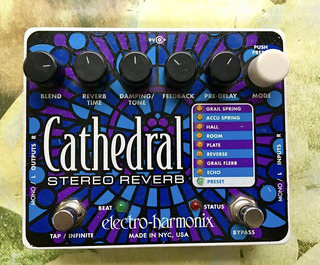 Ehx Electro Harmonix Cathedral Stereo Reverb Looper Guitar
