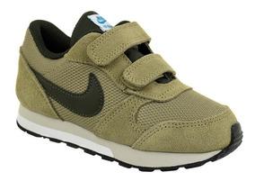Tênis Menino Nike Md Runner 87317-200 Verde Musgo Infantil