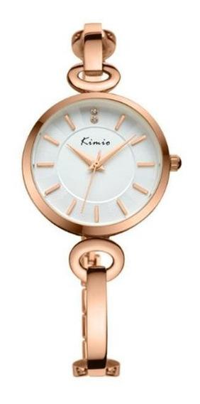 Kimio Kw6103s Moda Mulheres Relógio De Quartzo Strass Discag