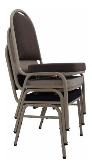 Cadeira Fixa Empilhavel Hotelaria 4 Pés Estofada Tsmob