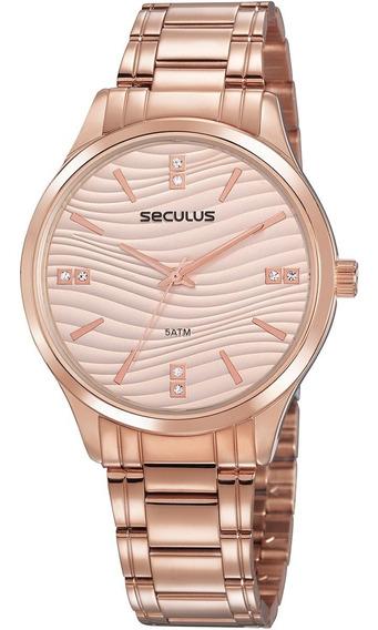 Relógio Seculus Feminino Luxo Original A Prova D