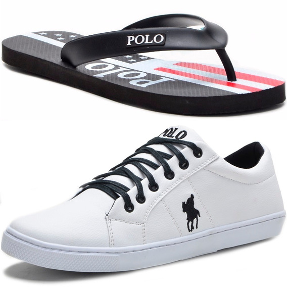 Kit Masculino Polo Plus Original Tênis E Chinelo Oferta!!!