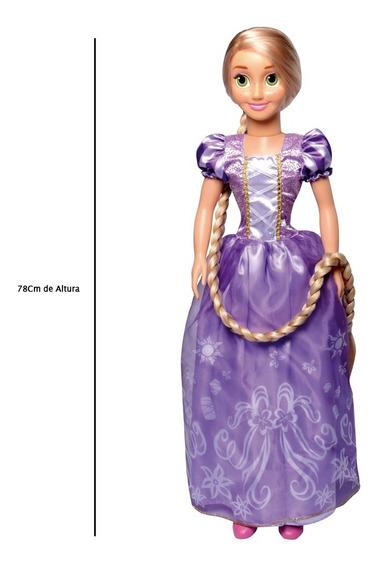 Boneca 78 Cm - Disney - Princesas - Rapunzel - Novabrink