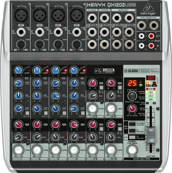 Mesa De Som Behringer Xenyx Qx1202usb Mixer