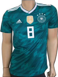 Jersey adidas Alemania Visita Verde 2018 Mundial Kroos Numer