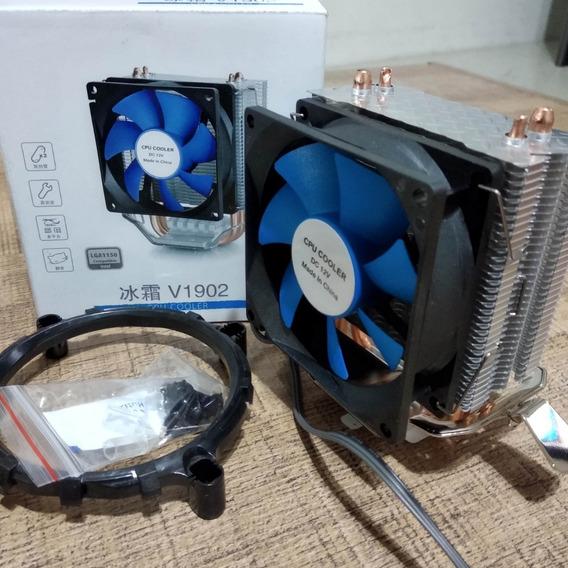 Cooler Processador Fan 80mm Intel 775 Core 2 Quad Xeon I3 I5
