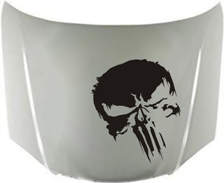 Calcos Punisher Para Capot + Regalo !! Graficastuning 00001