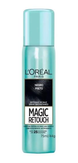 Loreal Magic Retouch Spray Cobertura Temporal De Canas X75ml