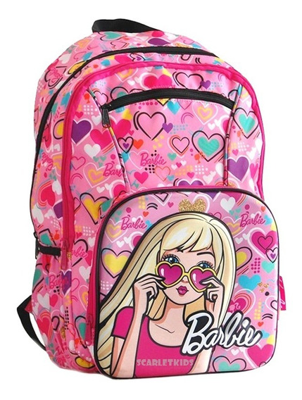 Mochila Barbie Espalda 18 Nena Primaria Original Scarletkids