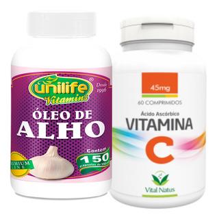 Vitamina C 100mg C/60 Comps + Óleo De Alho250mg 150 Cáps