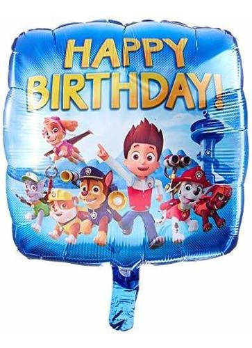 Imagen 1 de 1 de Globo De Papel De Aluminio Feliz Cumpleaños Patrulla Anagram