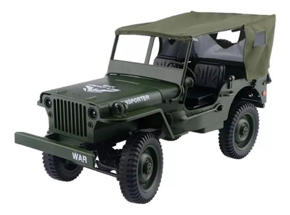 Jeep Rc 1941 Escala 1/10 Jjrc Q65 4x4 P. Entrega Com Capota