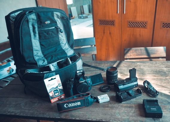 Canon T3i + Lente + Cartão 16gb + Mochila Profissional + Grip + Frete Grátis + A Vista 1250,00