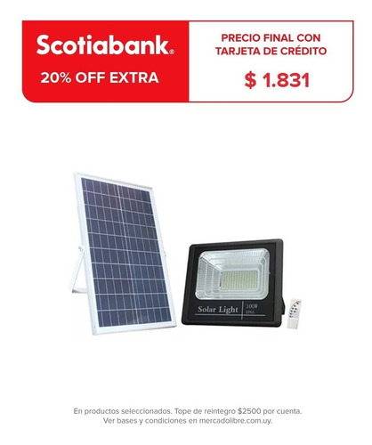 Foco Solar Led 60 W C Sensor Patio Jardin Calles Exterior