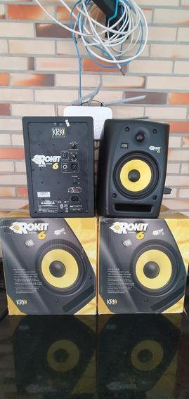 2 Monitores De Referência Krk Rockit Rp6 G2 - Excelente