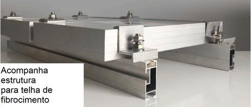 Estrutura De Suporte 4 Painéis Fotovoltaicos Cerâmica