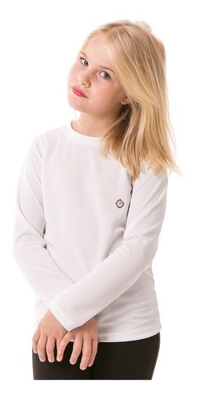 Camiseta Infantil Feminina Com Proteção Solar Extreme Uv Dry