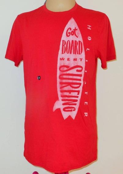 Hollister Camiseta Basica Masculina Tamanho M Nova Original