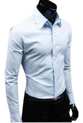 Camisa Social Masculina Manga Longa Slim Fit Casual Lisa