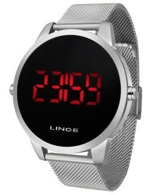 Relógio Lince Digital Prata Lançamento Mdg4586l Px8x Cx
