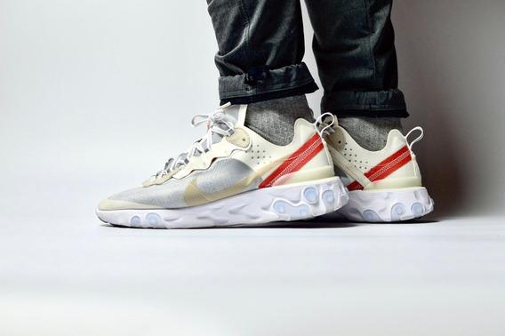 Zapatillas Nike React Element 87 Talla 42.5 Crema No adidas