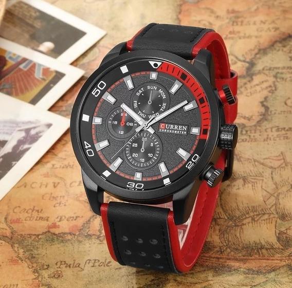 Relógio Importado E Original - Curren® 8250 - Pulseira Couro