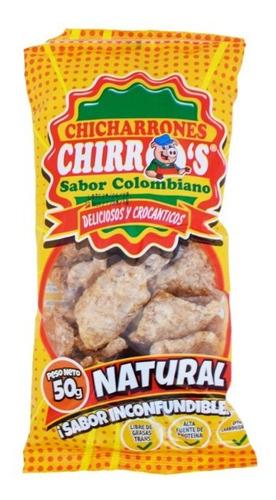 Chicharron Sabor Natural Chirros 50gr - K - kg a $5