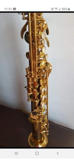 Sax Soprano Yamaha Yss 675 Sp, Com 2 Tudeis.