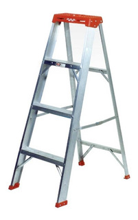 Escalera Tijera Aluminio 8p 2,43mt. Prodalum. (c/envio Stgo)