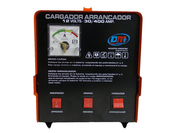 Cargador Arrancador 12v 30/400 C/amp. Y Comando A Distancia