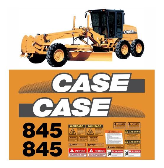 Kit Adesivo Motoniveladora Case Cx845 Cx 845 + Etiquetas Mk